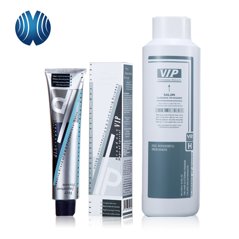 Long Lasting No Damaged FDA Permanent Hair Color Cream